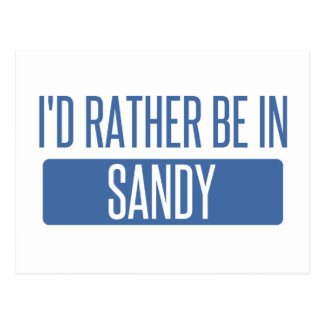 I'd rather be in Sandy Springs Postcard