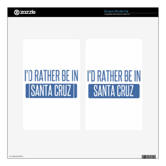 I'd rather be in Santa Cruz Decal For Kindle Fire