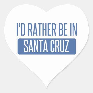 I'd rather be in Santa Cruz Heart Sticker