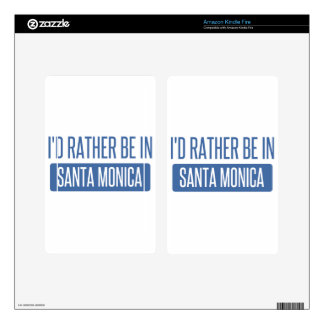 I'd rather be in Santa Monica Decal For Kindle Fire