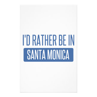 I'd rather be in Santa Monica Stationery