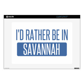 I'd rather be in Savannah Laptop Decal