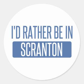I'd rather be in Scranton Classic Round Sticker