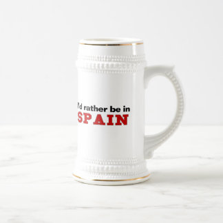 I'd Rather Be In Spain Beer Stein