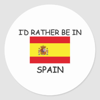 I'd rather be in Spain Stickers