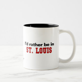 I'd Rather Be In St. Louis Two-Tone Coffee Mug