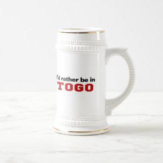 I'd Rather Be In Togo 18 Oz Beer Stein