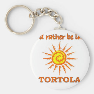 I'd Rather Be in Tortola Basic Round Button Keychain
