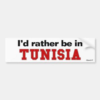I'd Rather Be In Tunisia Bumper Sticker