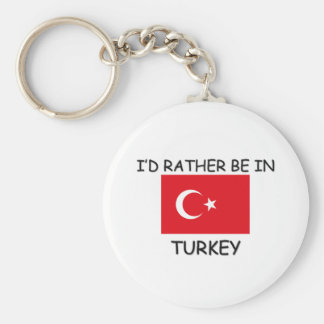 I'd rather be in Turkey Keychain