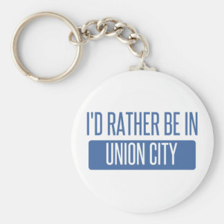 I'd rather be in Union City NJ Keychain