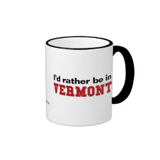 I'd Rather Be In Vermont Ringer Mug