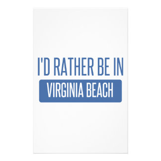 I'd rather be in Virginia Beach Stationery