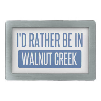 I'd rather be in Walnut Creek Rectangular Belt Buckle