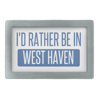 I'd rather be in West Haven Belt Buckle