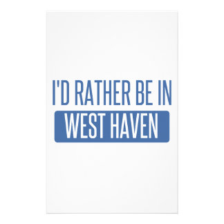 I'd rather be in West Haven Stationery