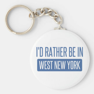 I'd rather be in West New York Keychain