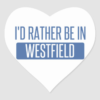 I'd rather be in Westfield Heart Sticker