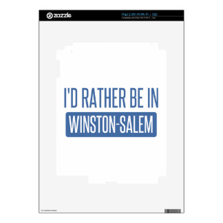 I'd rather be in Winston-Salem Skin For iPad 2