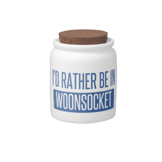 I'd rather be in Woonsocket Candy Jar