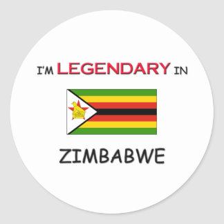 I'd Rather Be In ZIMBABWE Classic Round Sticker