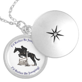 I'd Rather Be Jumping Horse Necklace
