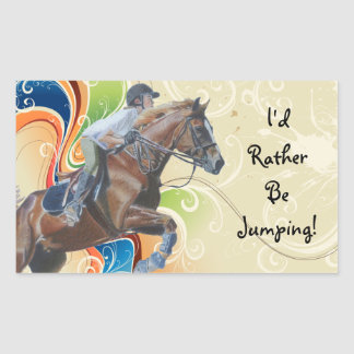 I'd Rather Be Jumping! Horse Stickers