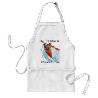 I'd Rather be Kayaking 2 Adult Apron
