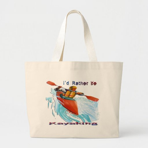 I'd Rather be Kayaking 2 Canvas Bags
