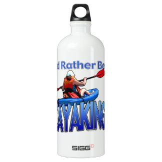 I'd Rather Be Kayaking Aluminum Water Bottle