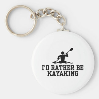 I'd rather be Kayaking Basic Round Button Keychain