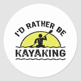 I'd rather be Kayaking Sticker
