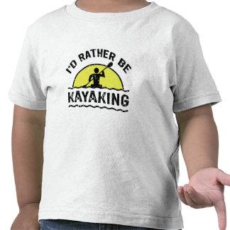 I'd rather be Kayaking T-shirts