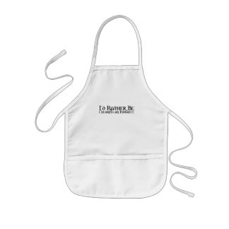 I'd Rather Be... Kids' Apron
