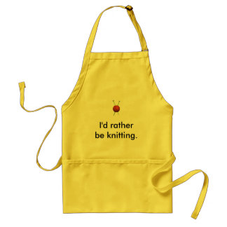 I'd Rather Be Knitting ... Adult Apron