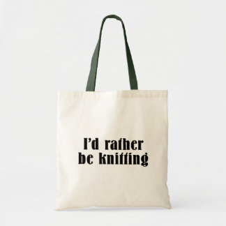 I'd Rather Be Knitting Tote Bag
