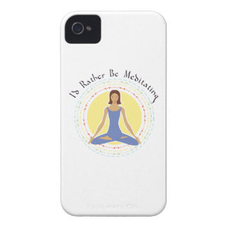 I'd Rather Be Meditating - Woman Case-Mate iPhone 4 Cases