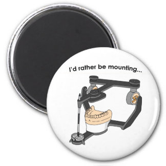 """I'd Rather Be Mounting"" magnet"