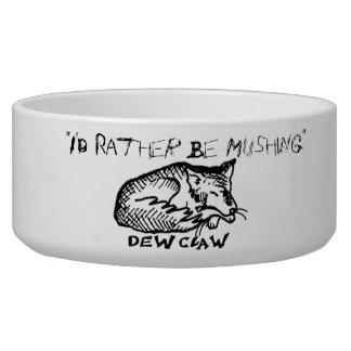 I'd Rather Be Mushing Dog Bowl