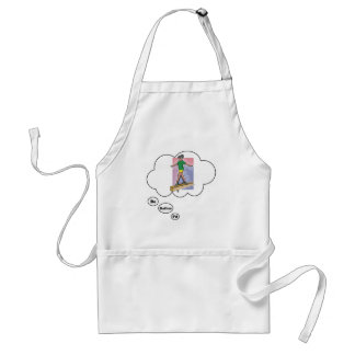 I'd rather be on a Balance Beam Adult Apron