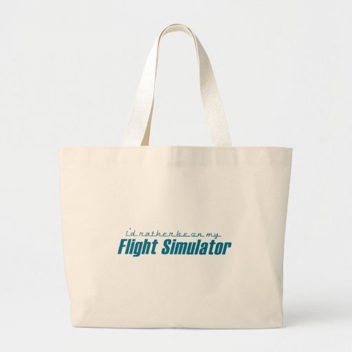 I'd Rather Be on my Flight Simulator Tote Bag