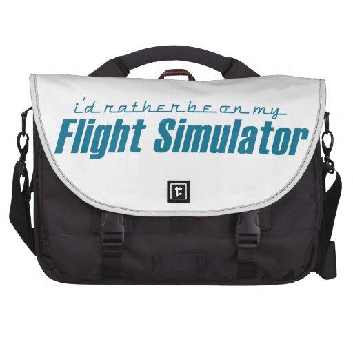 I'd Rather Be on my Flight Simulator Laptop Shoulder Bag