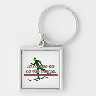 I'd Rather Be on the Course Skiing Keychain