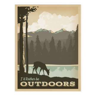 I'd Rather be Outdoors Postcard