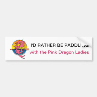 I'd Rather Be Paddling Bumper Sticker Car Bumper Sticker