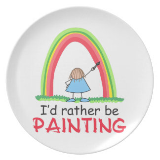 ID RATHER BE PAINTING DINNER PLATES