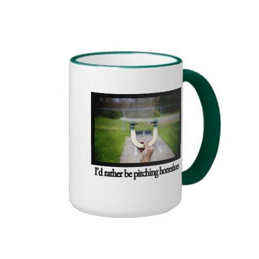 I'd rather be pitching horseshoes mug