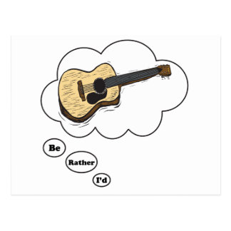 i'd rather be playing Acoustic Guitar Postcard