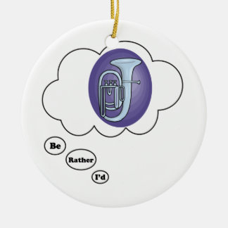 i'd rather be playing Baratone Horn Ceramic Ornament