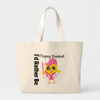 I'd Rather Be Playing Baseball Canvas Bags